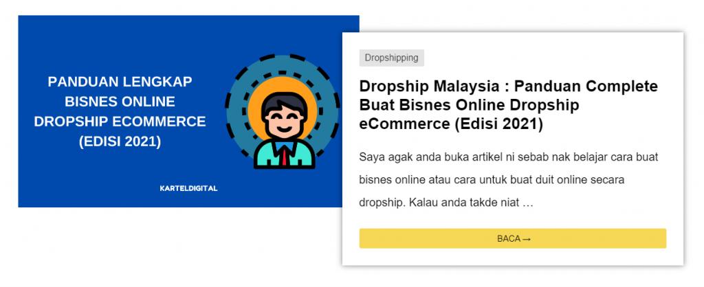 artikel dropship untuk promote affiliate shopify