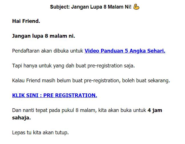 promote affiliate marketing melalui email