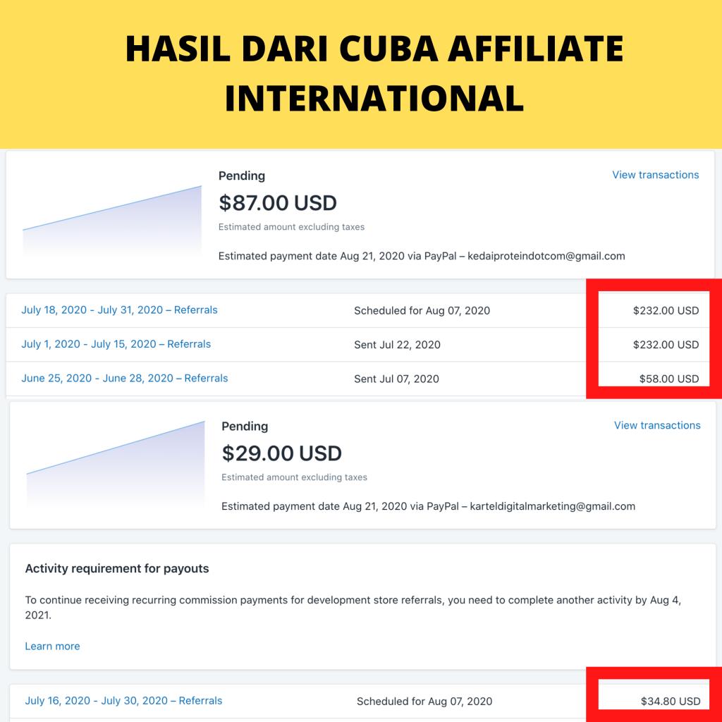 result affiliate USD