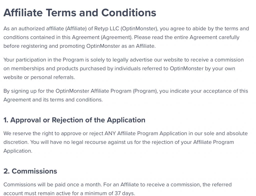 rules affiliate marketing