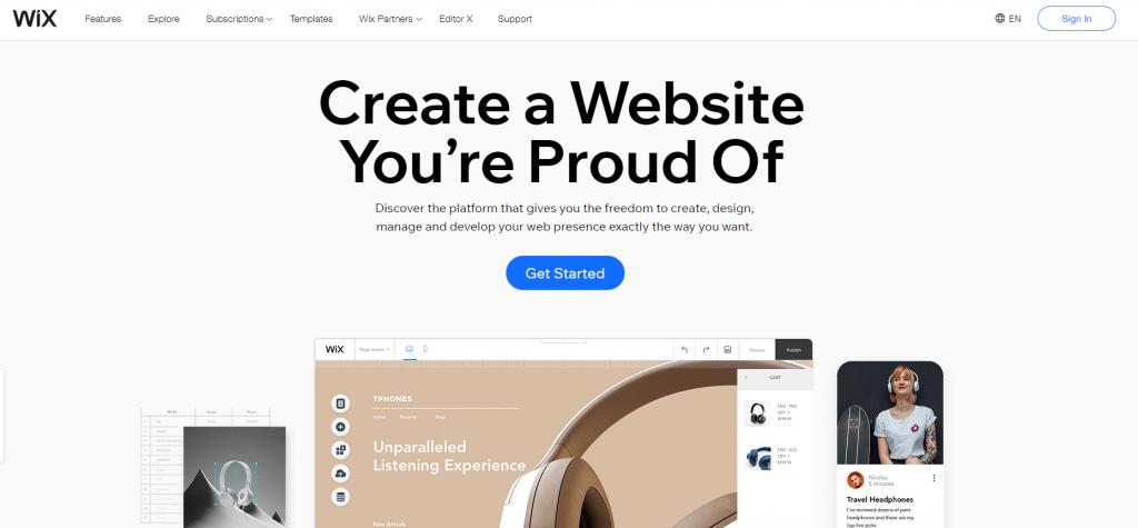 tools buat website wix