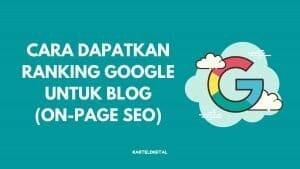 Cara Buat SEO Untuk Blog