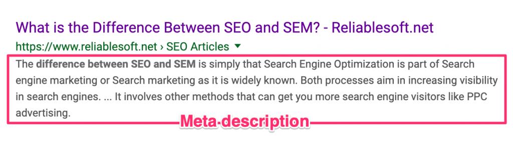 contoh meta description untuk sei