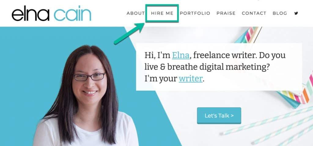 contoh offer service dalam blog