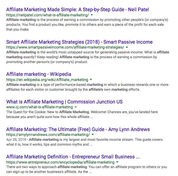 contoh result google untuk blog post
