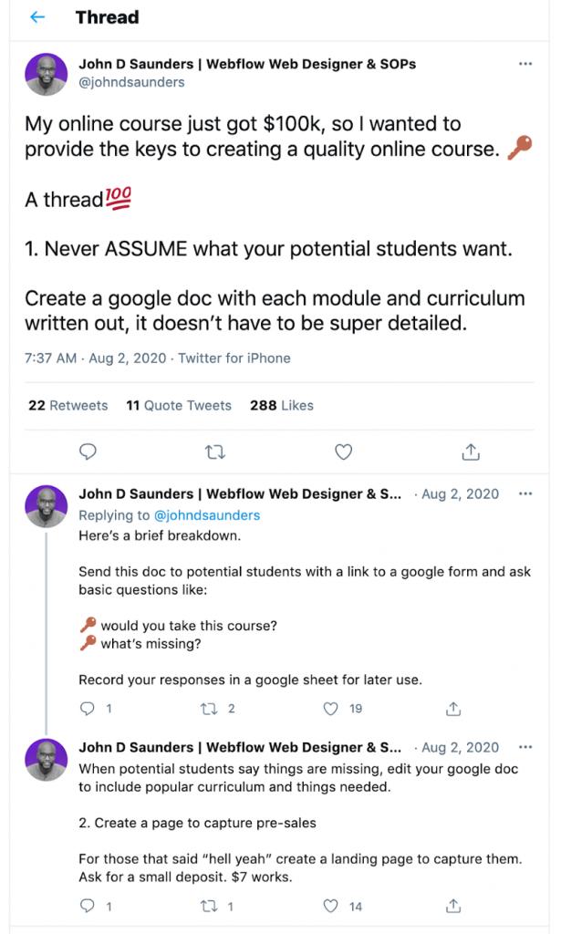 contoh thread dalam twitter