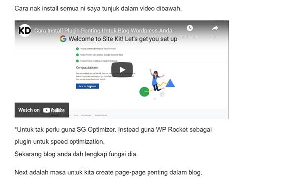contoh video dalam artikel