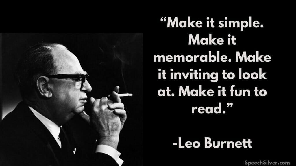quote leo burnett in copywriting