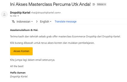 satu email satu CTA