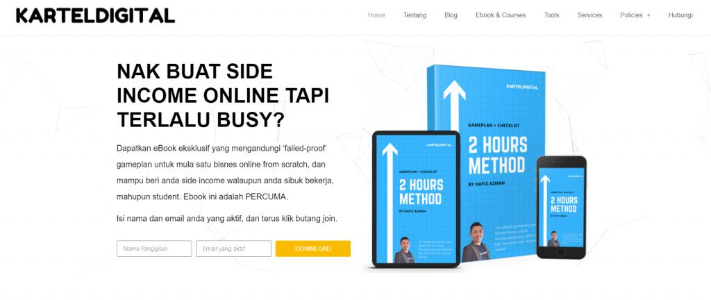 contoh homepage blog kartel digital 1