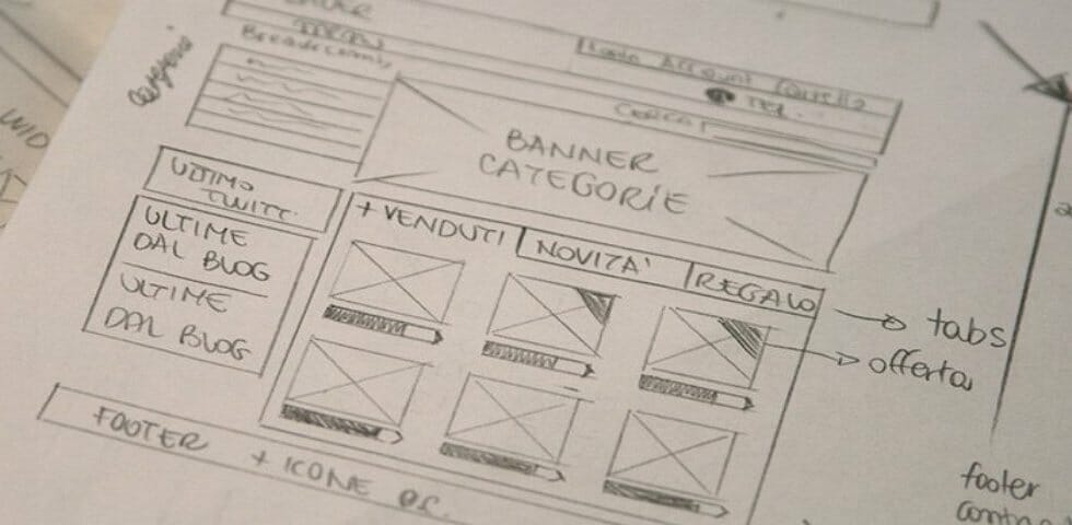 contoh wireframe homepage blog 1