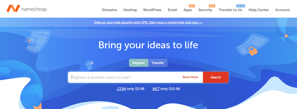 daftar domain di namecheap