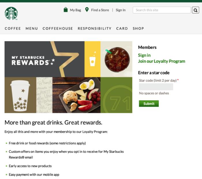 Starbucks loyalty program e1551186381362