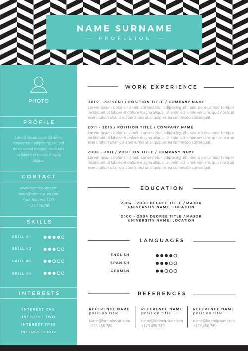 contoh template resume