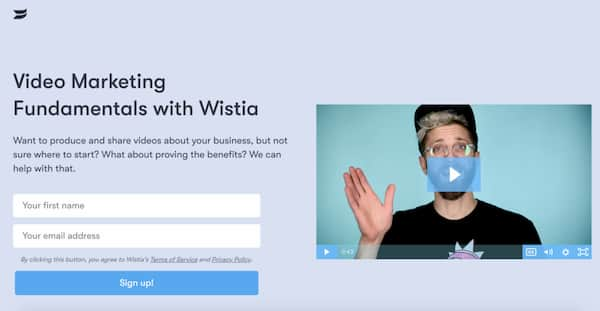 email course lead magnet wistia