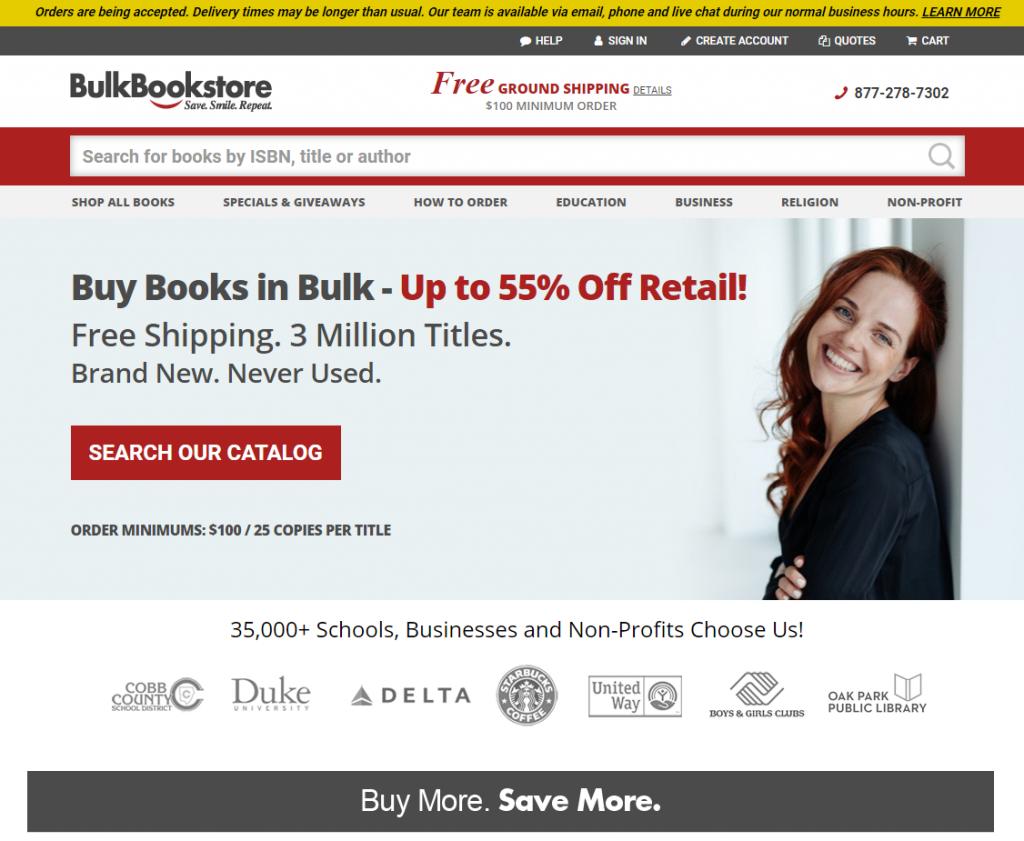 icp test page b2b ecommerce category bulkbookstore
