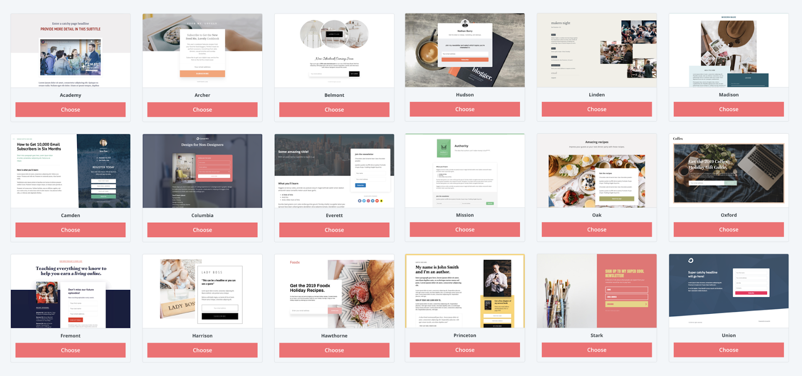 convertkit landing page and squeeze page template