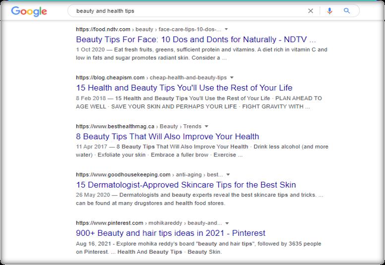 SERP In Google
